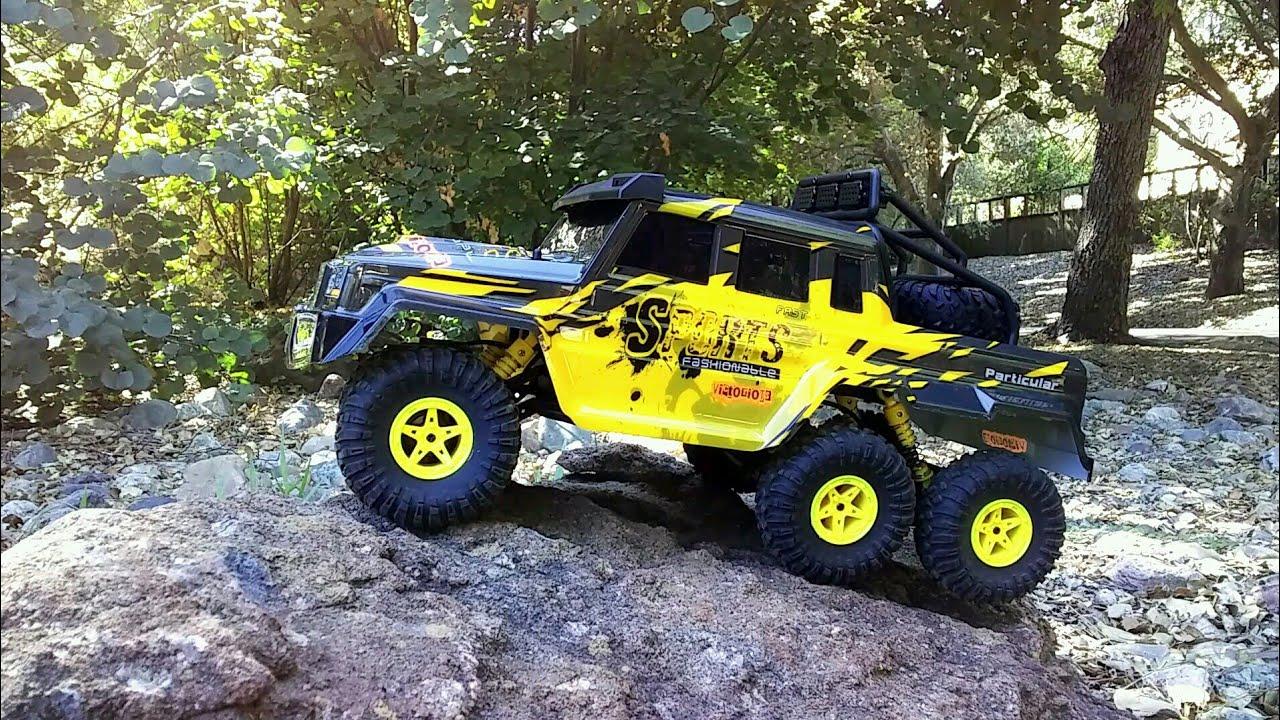 RC Rock Crawler 6WD Crawler King Truck mit beleuchteten Scheinwerfer inkl Akku