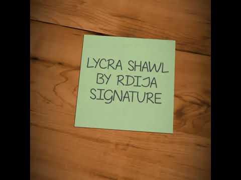 TUTORIAL LYCRA SHAWL