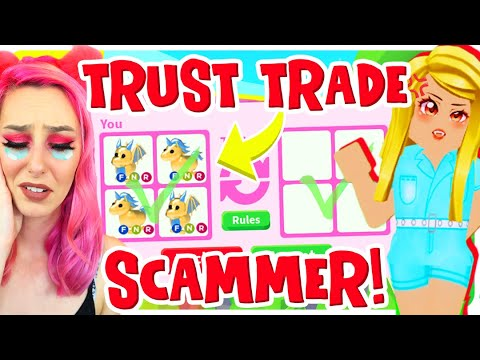I Did A Trust Trade.. A Scammer Tried To Steal My Legendary Golden Unicorn! Roblox Adopt Me