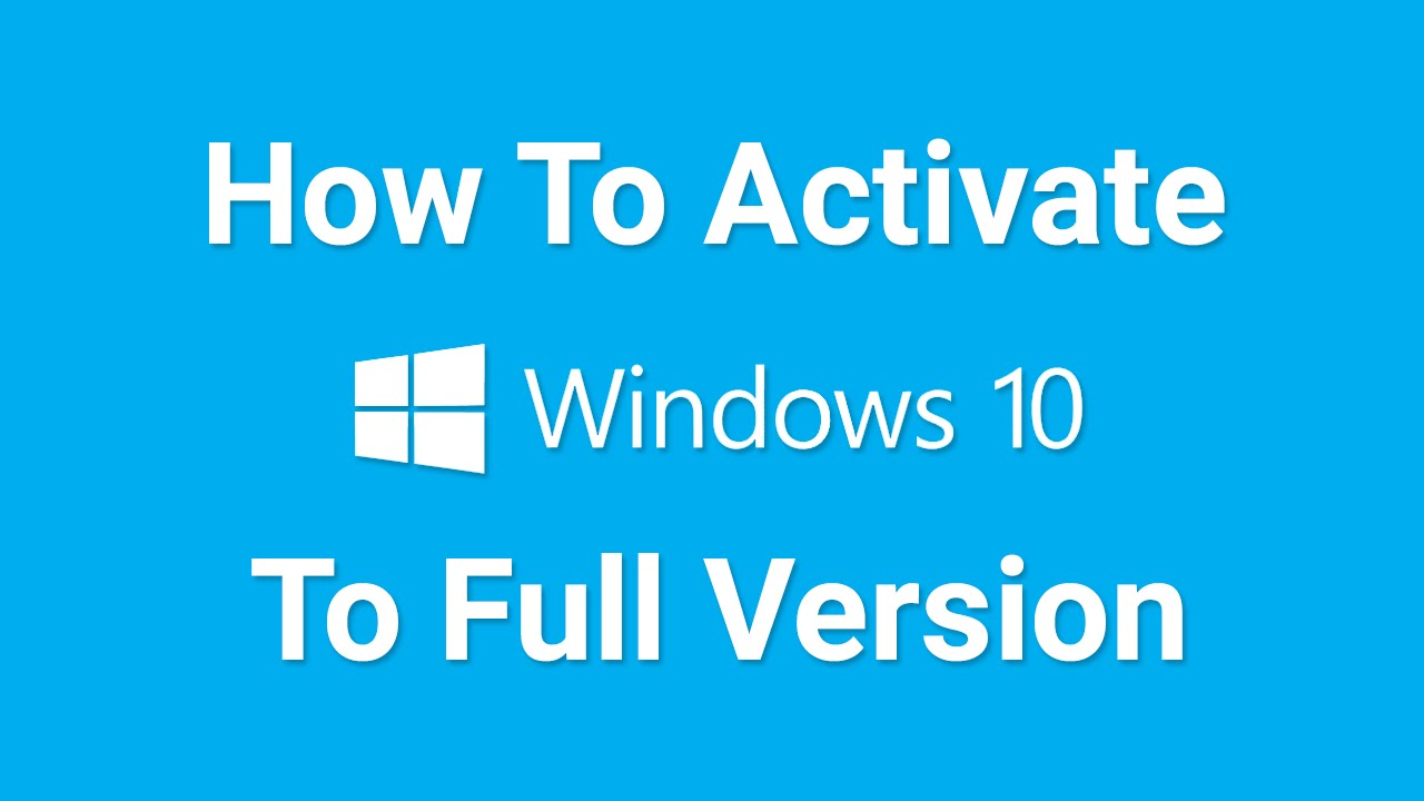 how to get rid of activate windows 10