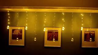 Dây Đèn Led Thả Trang Trí Banh Bi Tròn 12 Bóng - Cắm Điện 220V Màu Vàng Nắng Ấm Áp 0906776946