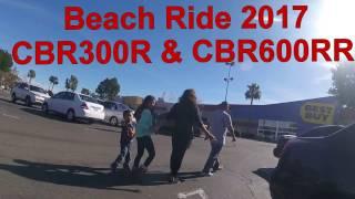 Huntington Beach Motorcyle Ride Jan 2017.