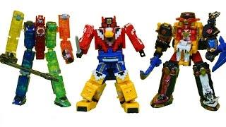 파워레인저 미니프라 3종 트레인킹 닌자킹 애니멀킹 장난감 Power rangers Minipla Toys