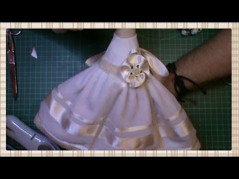 Tutorial muñeca de comunión: Faldas y mangas del vestido