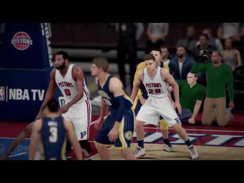 NBA 2K16 Highlights vs Pistons