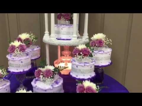 Pastel de 15 a os en lila y morado youtube for Decoracion de pared para quinceanera