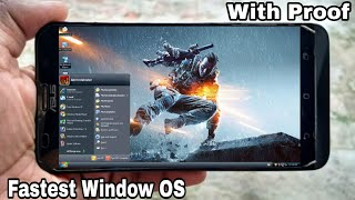 How to Run Fastest Window OS on Android Phone..!!![With Internet Connection Enabled]
