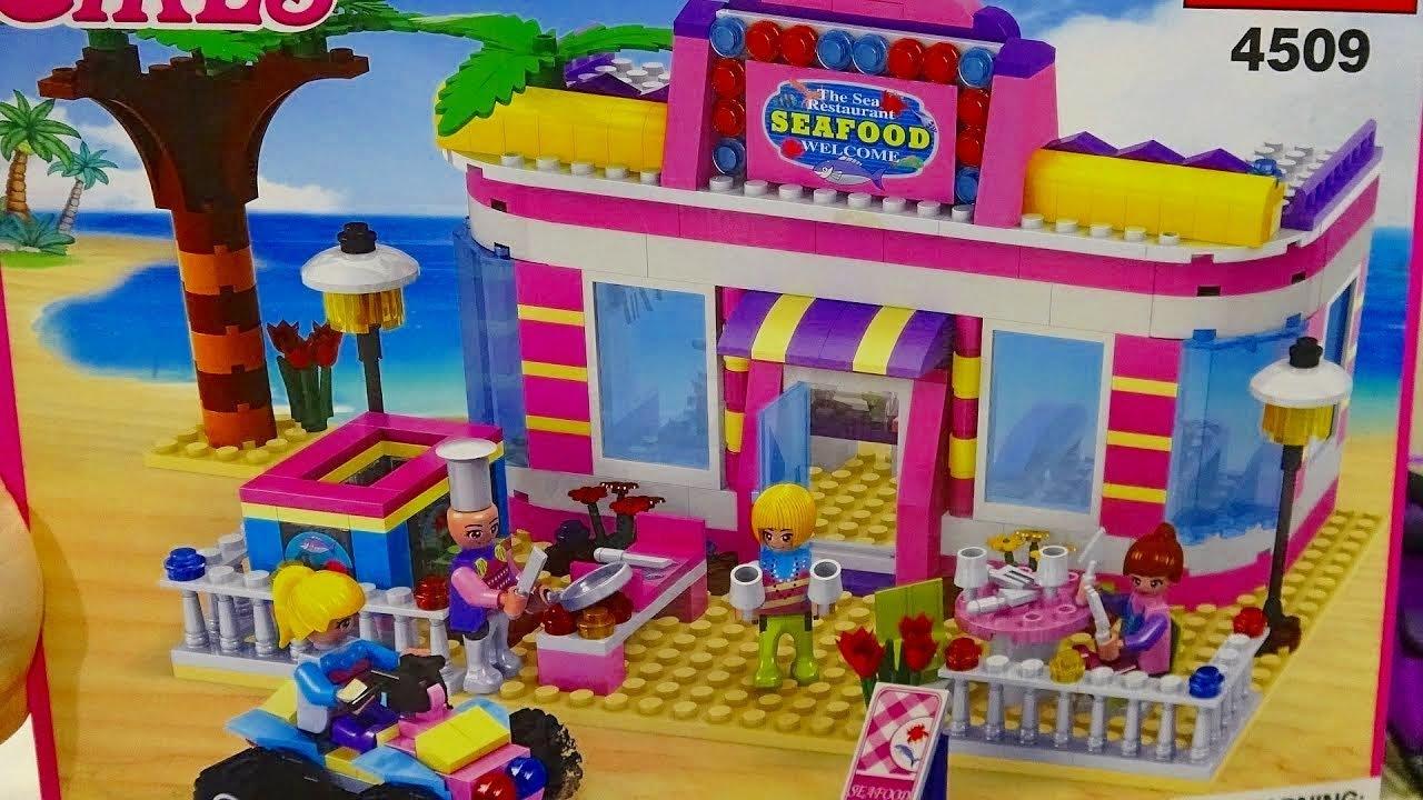 Лего,  конструктор Кафе у моря/ Игра для ДЕВОЧЕК - сборка от Вика ТВ