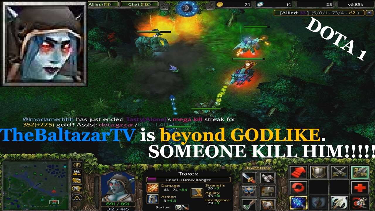 drow ranger beyond godlike dota 1 warcraft iii youtube