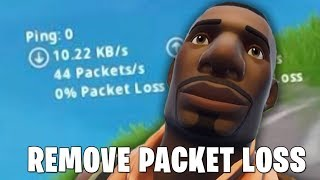 FIX PACKET LOSS || FORTNITE BATTLE ROYALE