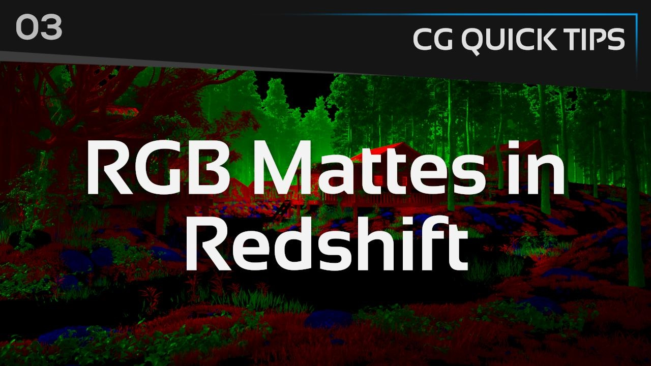 How to Make RGB Mattes With RedShift Using Puzzle Matte AOVs