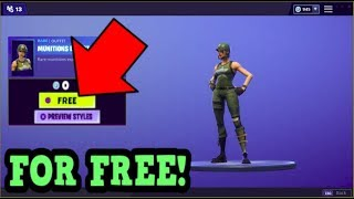 HOW TO GET MUNITIONS EXPERT SKIN FOR FREE! (Fortnite Old Skins)