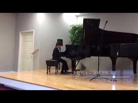 Indian National Anthem played on Grand Piano - Jan Gan Man