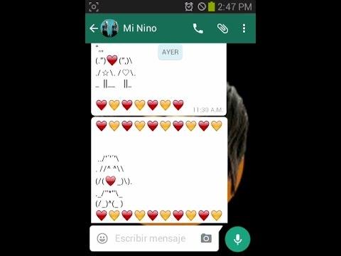top como hacer figuras de amor con signo en whatsapp