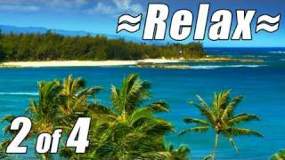RELAXATION VIDEO #2. HD OAHU Hawaii BEACHES Ocean Beach Wave Sounds Relaxing Nature for Studying