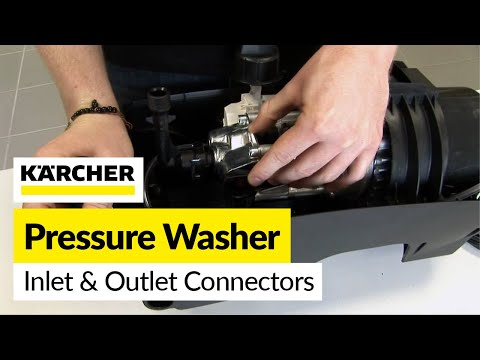 How to replace Karcher inlet and outlet connectors on a Karcher pressure washer
