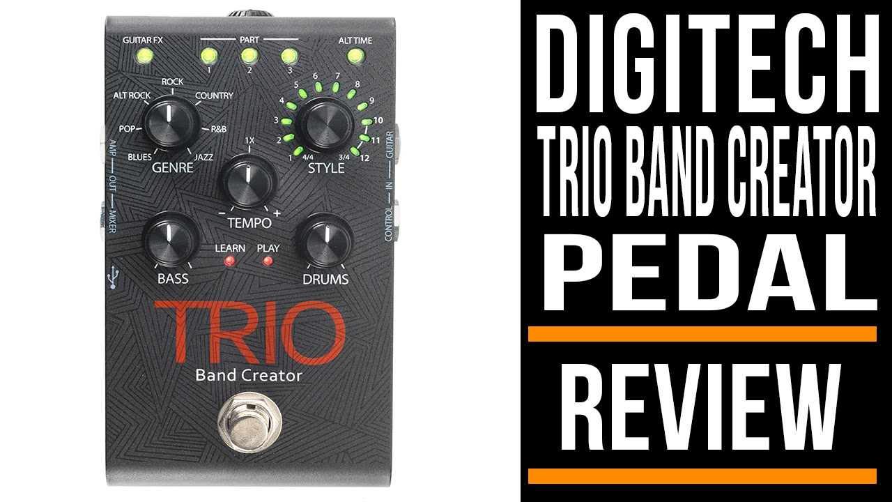 digitech trio band creator pedal review youtube. Black Bedroom Furniture Sets. Home Design Ideas