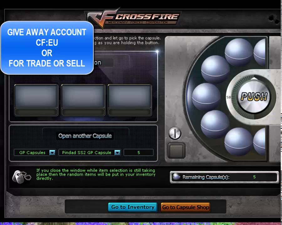 crossfire eu account vvip 2015-2016!! for sell i want steam gift ...