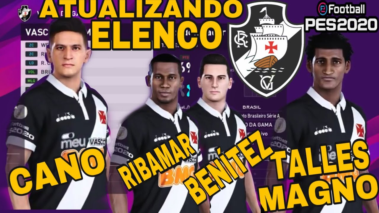 PES 2020 Vasco Transferências 2020 como atualizar elenco #PES2020 #Vasco