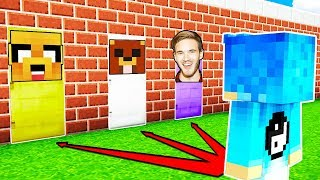 NO ELIJAS LA PUERTA EQUIVOCADA! 🚪😱 Rubius, Pewdiepie y Mikecrack en Minecraft