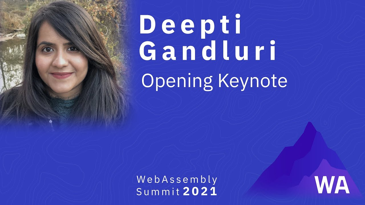 Deepti Gandluri — Opening Keynote
