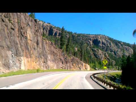 Driving dowm wolf creek pass on the east side