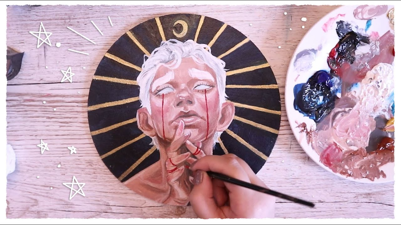 Painting On Wood Acrylic Painting Process Youtube