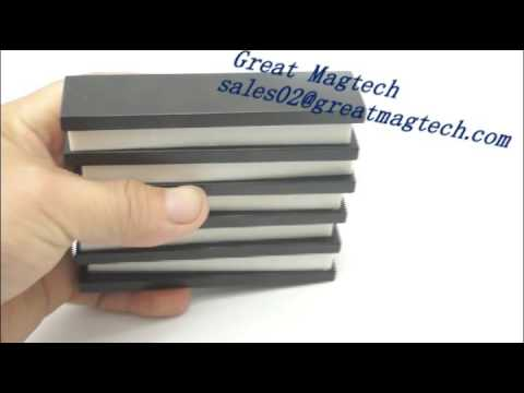 N40UH F100x25x6mm neodymium block magnets black epoxy coated magnets