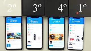 Huawei Mate 20 Pro vs OnePlus 6 vs Xiaomi Mi 8 vs Pocophone F1 - AnTuTu Benchmark