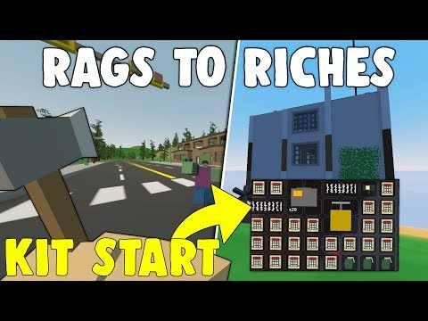 ULTIMATE RAGS TO RICHES! - SOLO OP LOOT CLAN BASE RAID (Unturned Rags to Riches)