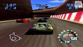 Automobili Lamborghini Arcade Gameplay (Nintendo 64)
