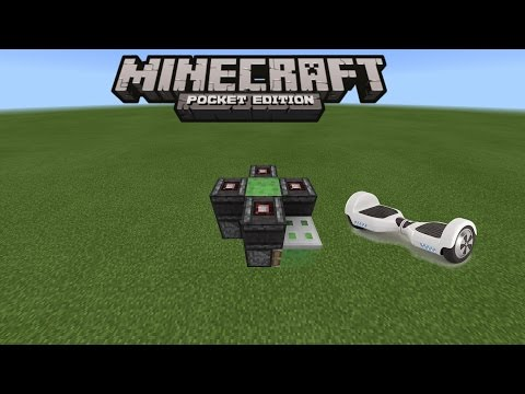 HOW TO MAKE A HOVERBOARD IN MINECRAFT PE 0 15 1 | MCPE 0 15