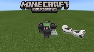 HOW TO MAKE A HOVERBOARD IN MINECRAFT PE 0.15.1 | MCPE 0.15.1 REDSTONE CREATION (NO MODS)