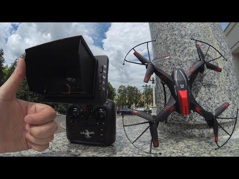 Дешевый FPV квадрокоптер с HD камерой и экраном на пульте