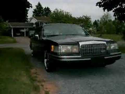 94 Lincoln Town Car 20 Rims Youtube