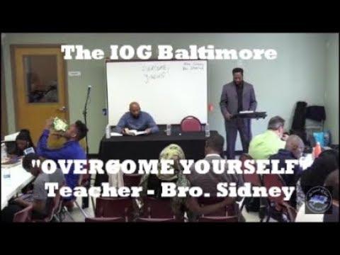 "IOG Baltimore - ""Overcome Yourself"""