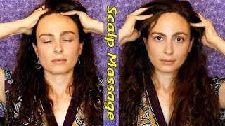 ASMR Scalp & Head Massage Soft Spoken w/ Hair Sounds & Relaxation Tips