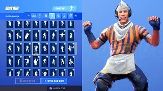 GRILL SERGEANT SKIN SHOWCASE WITH ALL FORTNITE DANCES & EMOTES