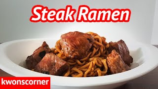 Steak Ramen from the movie Parasite (aka ramdon, aka jjapaguri (짜파구리 만들기, 영화 기생충 Parasite)