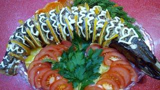 Щука запечённая в духовке с овощами