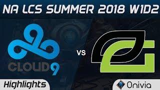 Video C9 vs OPT Highlights NA LCS Summer 2018 W1D2 Cloud9 vs Optic Gaming by Onivia download MP3, 3GP, MP4, WEBM, AVI, FLV Juni 2018