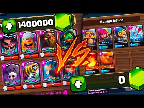$1 ACCOUNT VS $10000 IN CLASH ROYALE