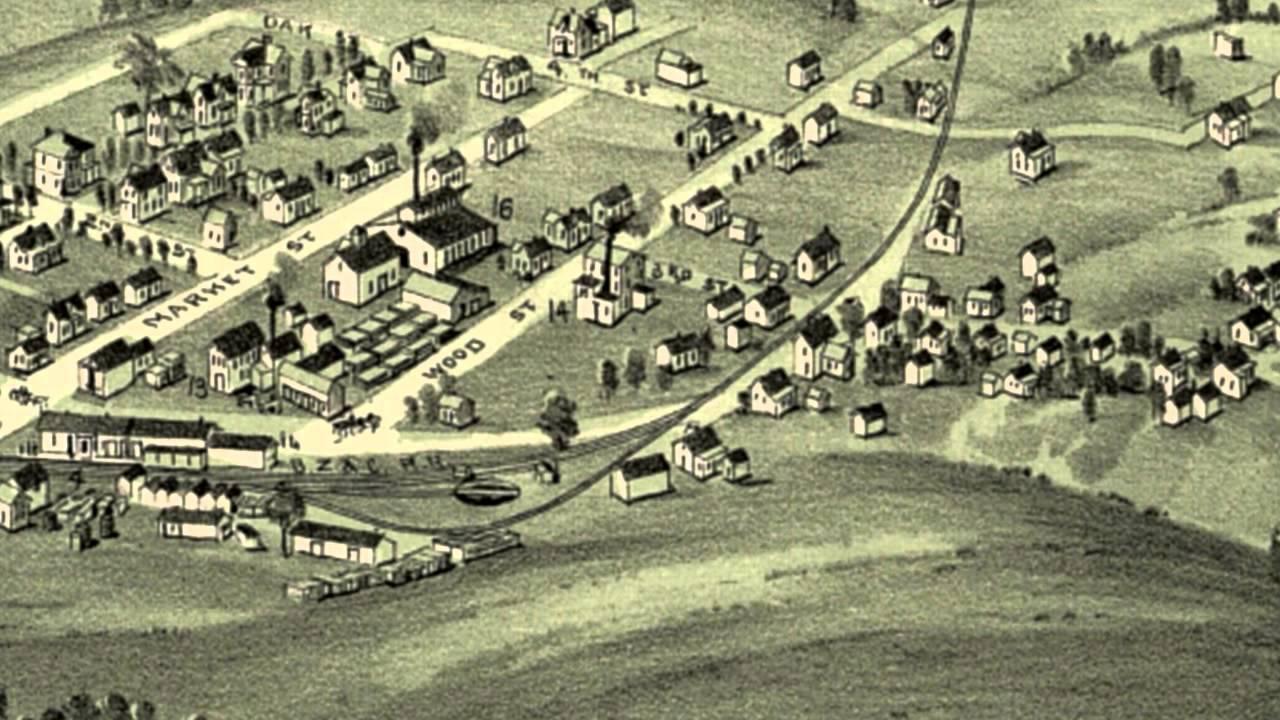 Woodsfield Ohio Map.Woodsfield Ohio 1899 Panoramic Bird S Eye View Map 7555 Youtube