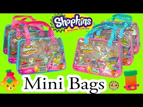 Thumbnail: 6 Shopkins Season 4 Shopkins Mini Bag with 2 Exclusive All Six Sets - Cookieswirlc Video