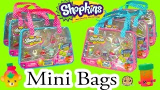 6 Shopkins Season 4 Shopkins Mini Bag with 2 Exclusive All Six Sets - Cookieswirlc Video
