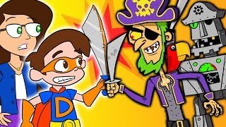 Super Drew Pendous and Ms. Booksy Battle the Pirates of Treasure Island | A Superhero Story