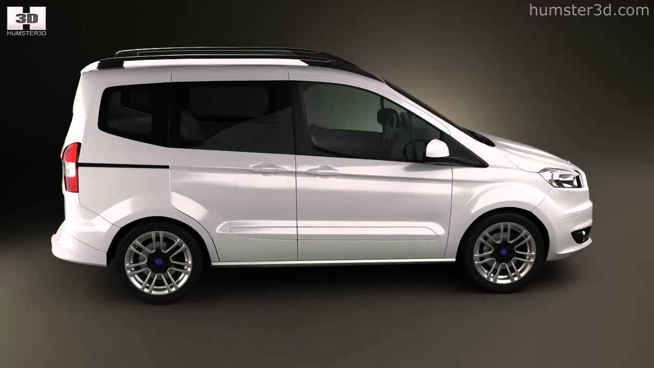 ford tourneo courier 2013 by 3d model store youtube. Black Bedroom Furniture Sets. Home Design Ideas