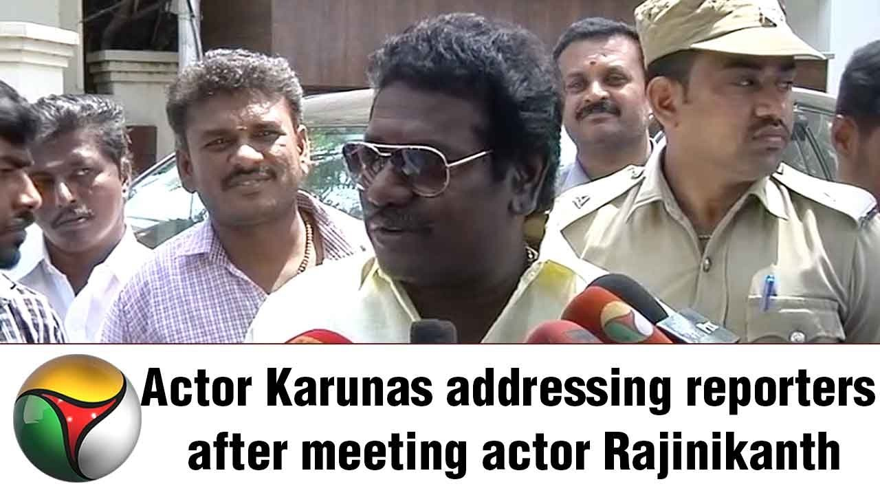 ADMK MLA Karunas Press Meet After Meeting Actor