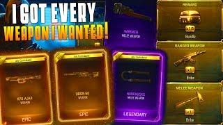 I GOT EVERY WEAPON I WANTED! (Triple Play Weapon Bribe Supply Drop Opening) 4 Weapon Bribes!
