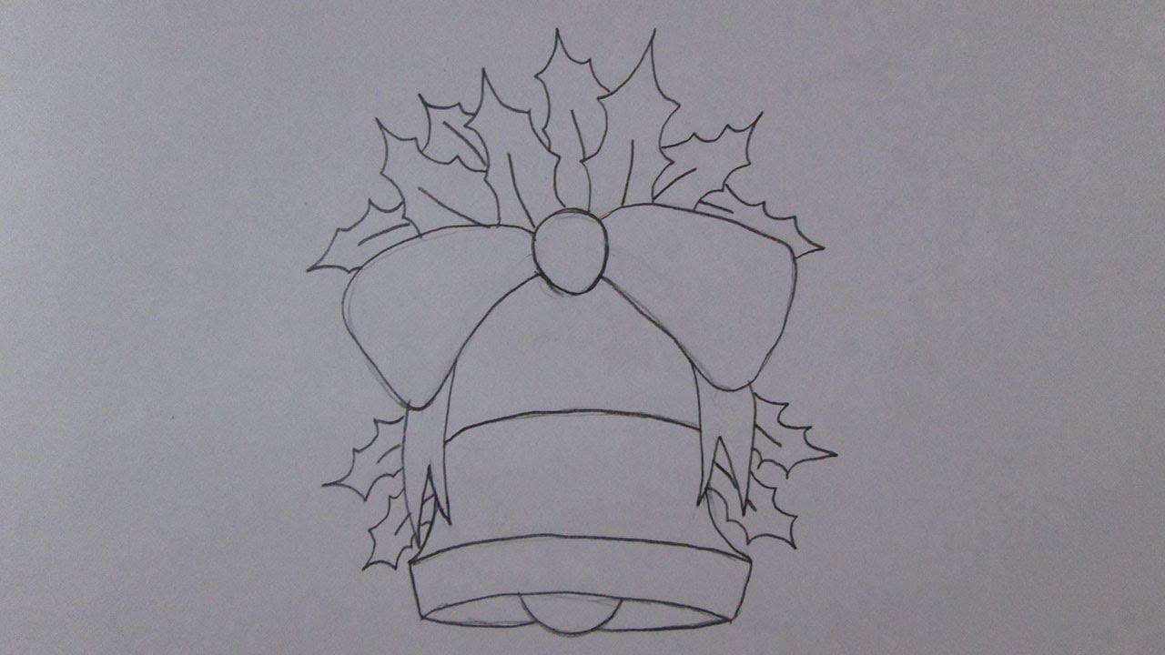 como desenhar um sino de natal youtube